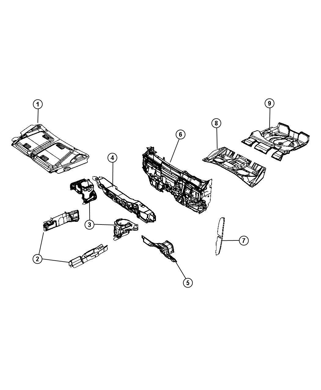 Dodge Caliber Silencer Side Rail Left Shields