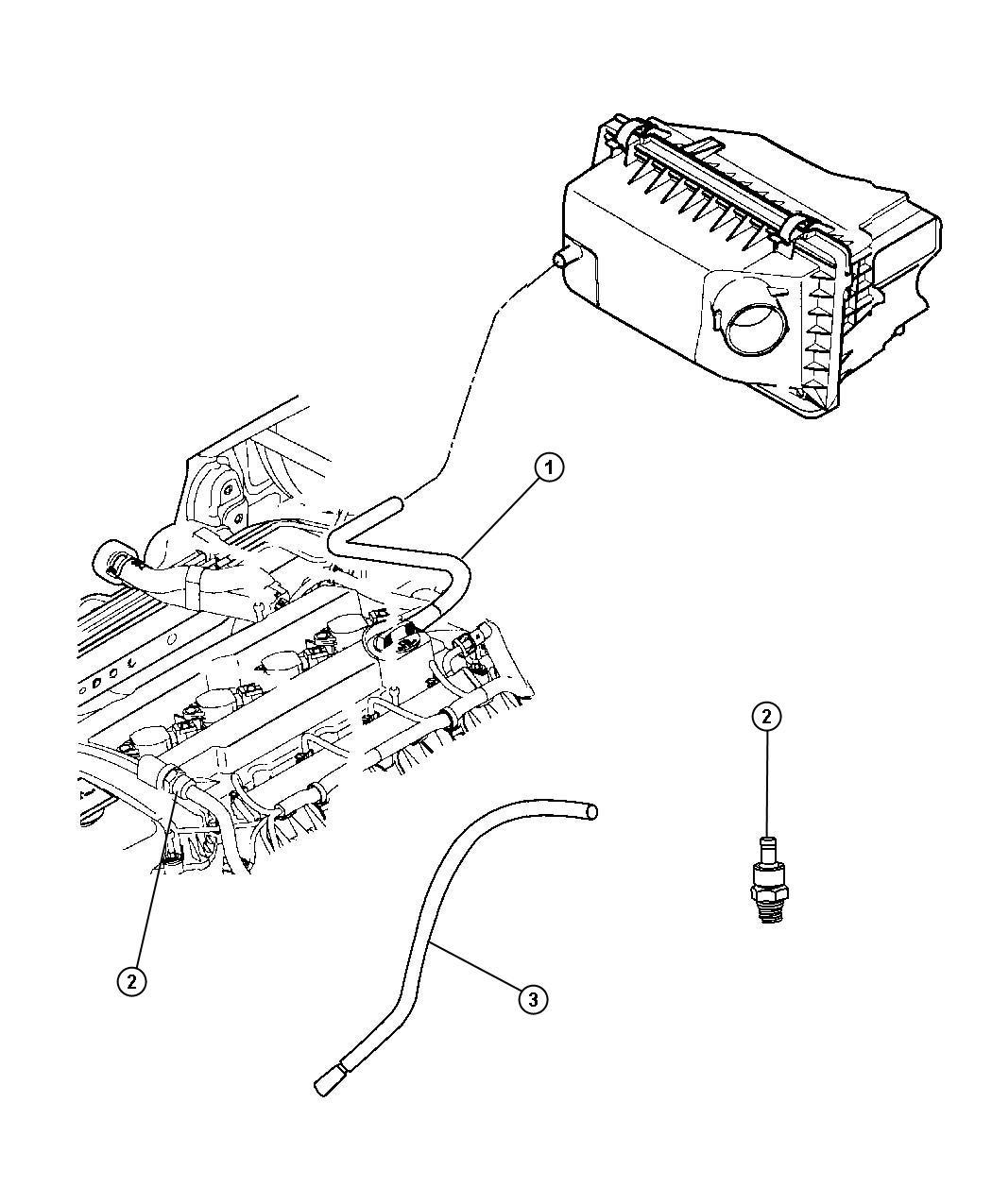 Dodge Caliber Valve Pcv Head Cover Cylinder