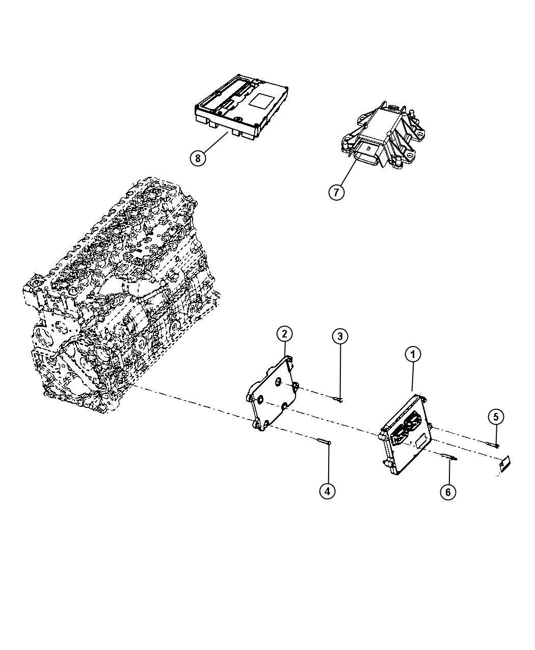 Dodge Ram Module Oxygen Sensor New Part For