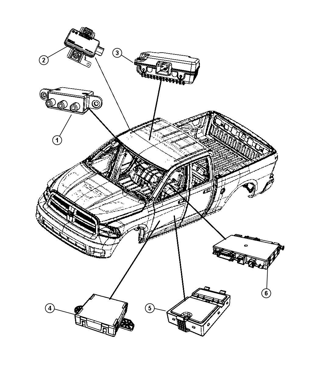 Dodge Ram Module Tire Pressure Monitoring