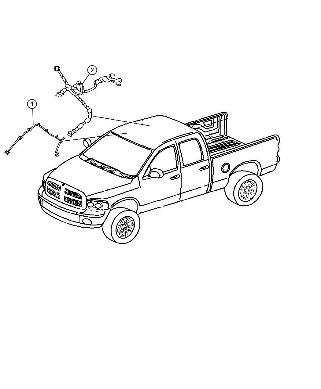 Dodge Ram Wiring Header Rear View Auto Dim