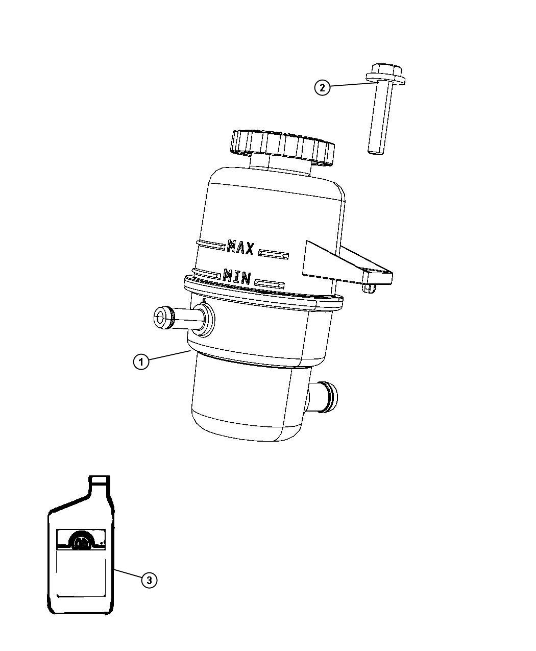 Chrysler Pacifica Fluid Power Steering Power Rack And