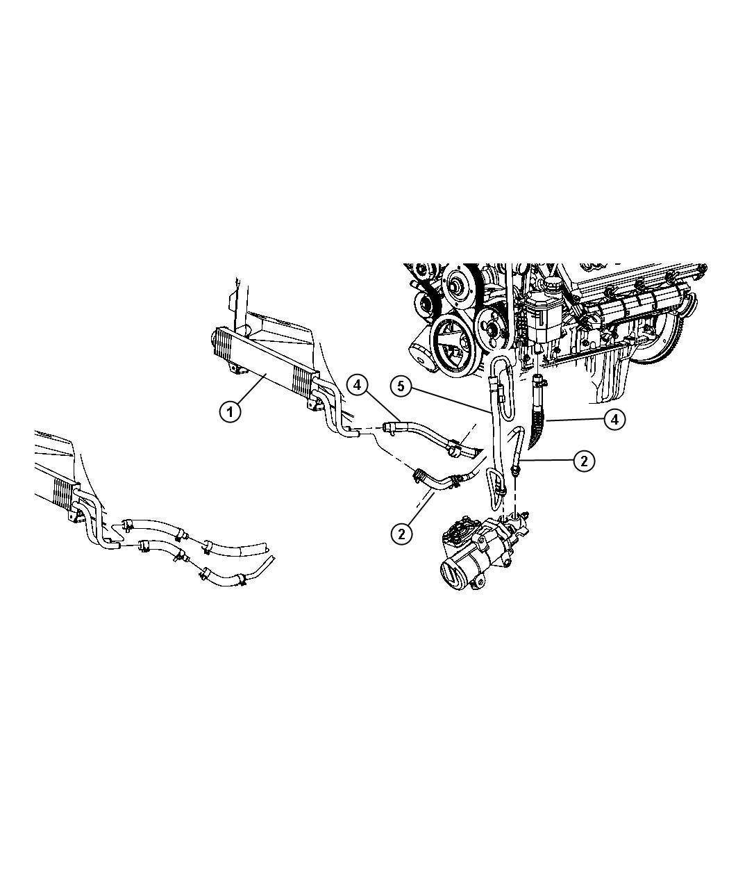 Dodge Ram Hose Power Steering Pressure Power