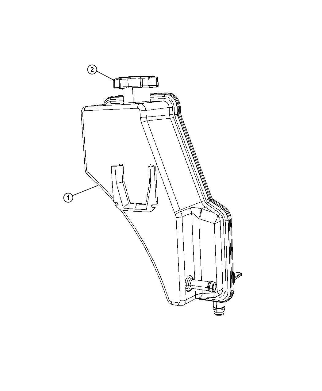 Chrysler 200 Reservoir Power Steering Fluid