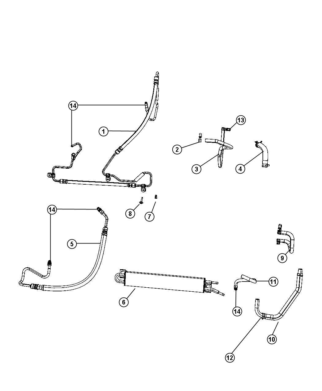 Jeep Grand Cherokee Hose Power Steering Return