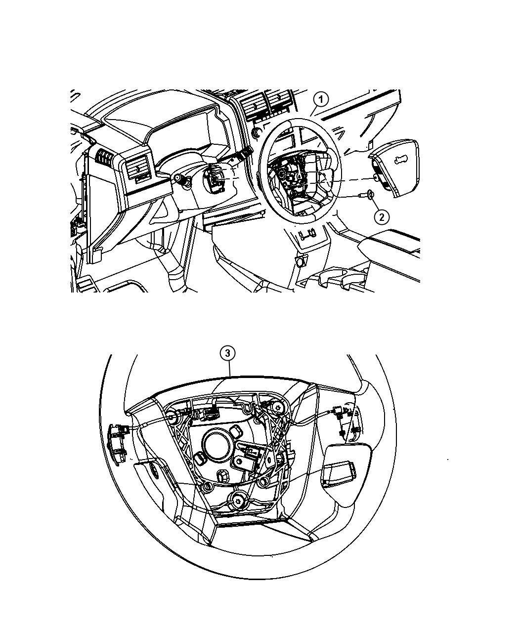 Chrysler Pt Cruiser Wheel Steering Trim All Trim Codes Color Pastel Slate Gray