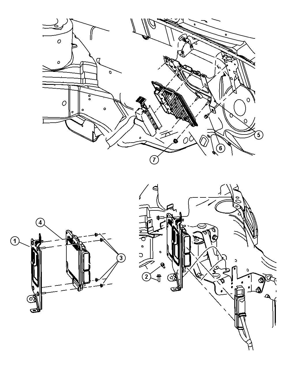 Chrysler Pt Cruiser Module Powertrain Control Federal