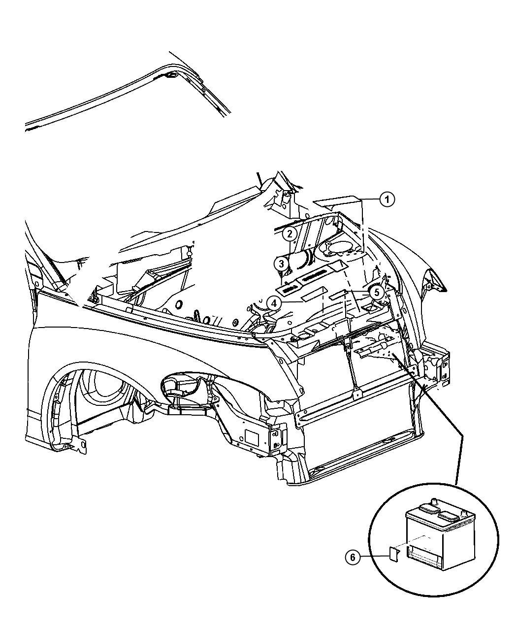 Chrysler Pt Cruiser Label Coolant System Cap