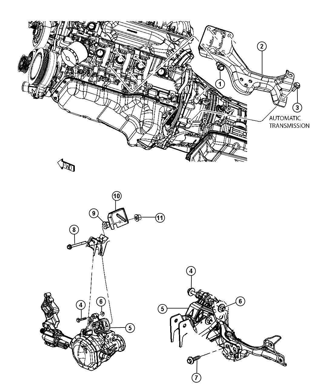 Dodge Ram Bracket Engine Mount Automatic