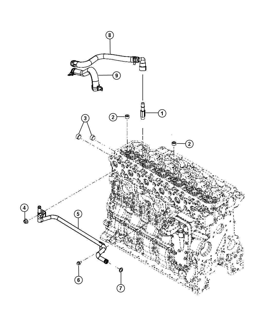 Dodge Ram Tube Heater Core 6 Spd Auto Aisin