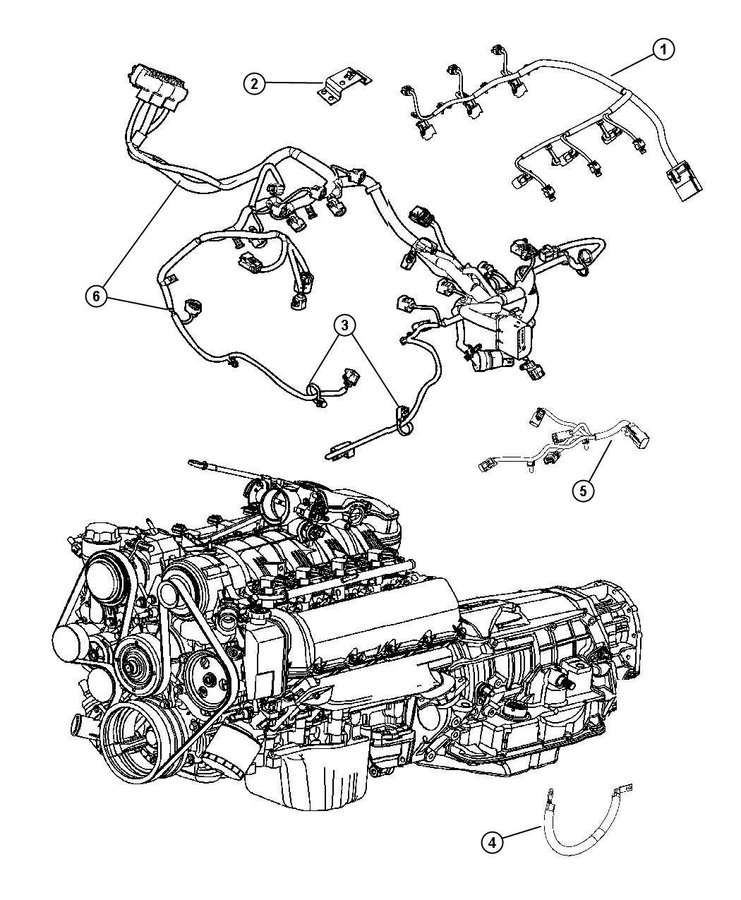 Jeep Grand Cherokee Wiring Engine Powertrain Mopar Gas