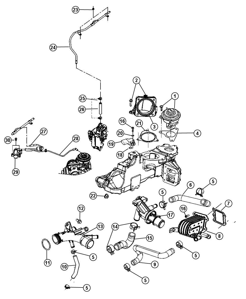 Dodge Nitro Sensor Air Temperature Boost Pressure