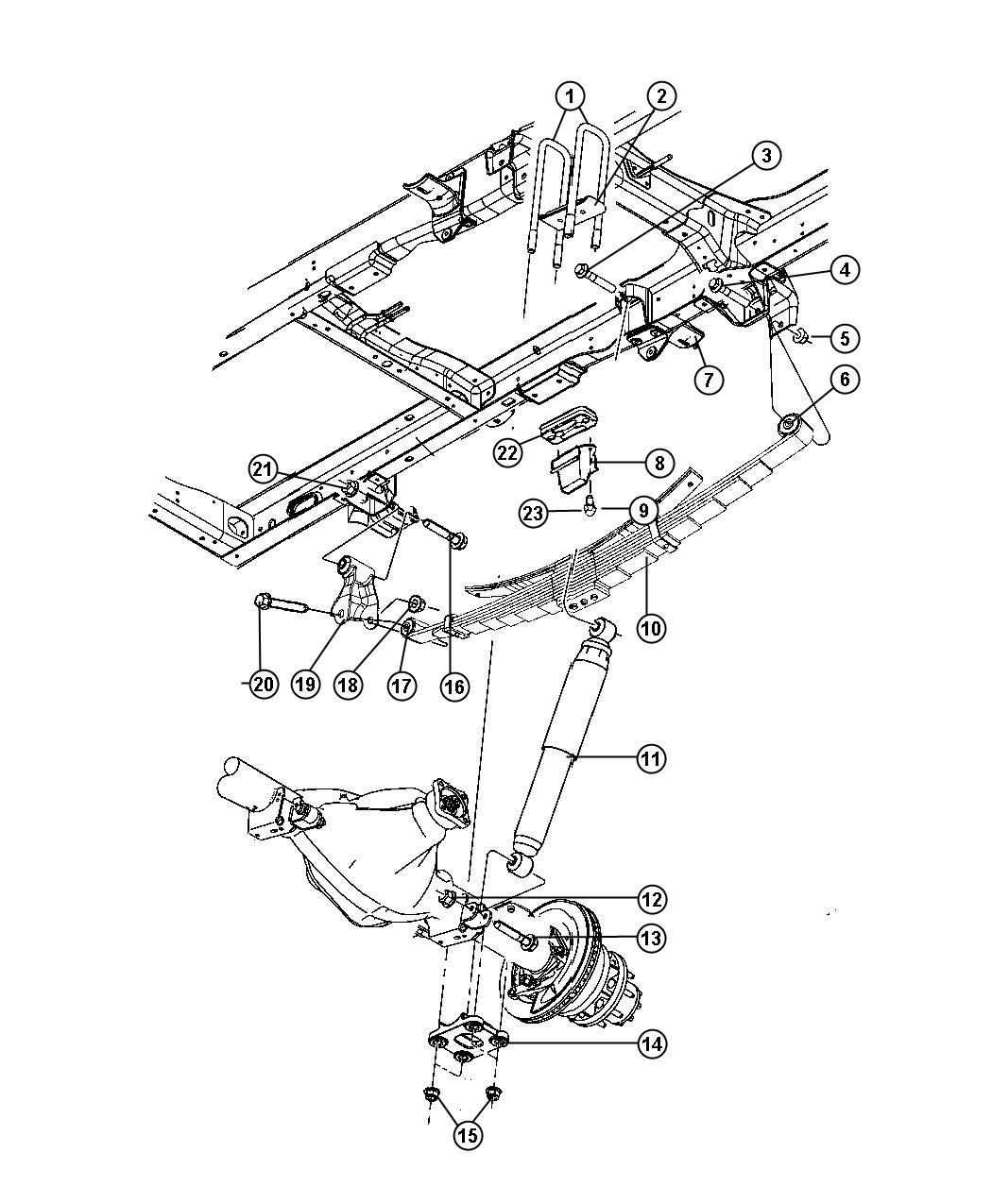 Ram U Bolt Mounting Axle To Leaf Spring Rear Wheels Suspension