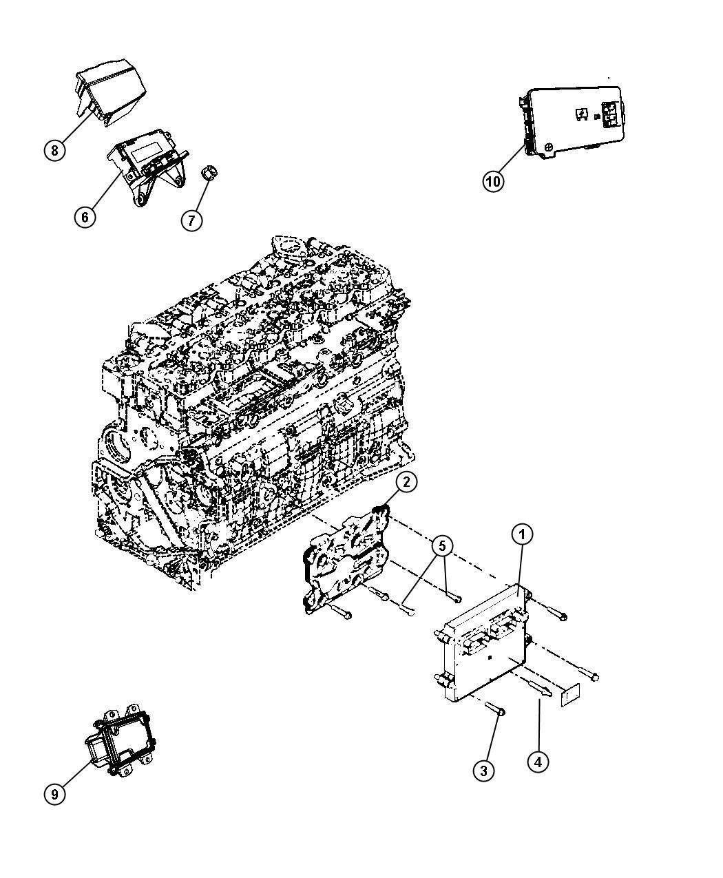 Dodge Ram Control Module Oxygen Sensor New Part For Core Return