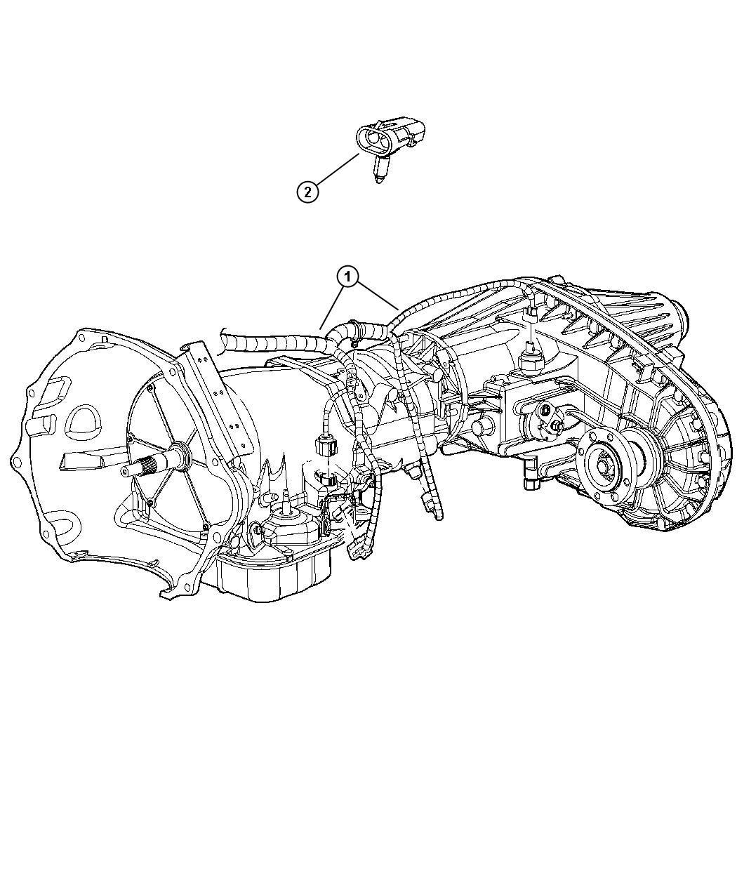 Dodge Ram Wiring Transmission Case Transfer State