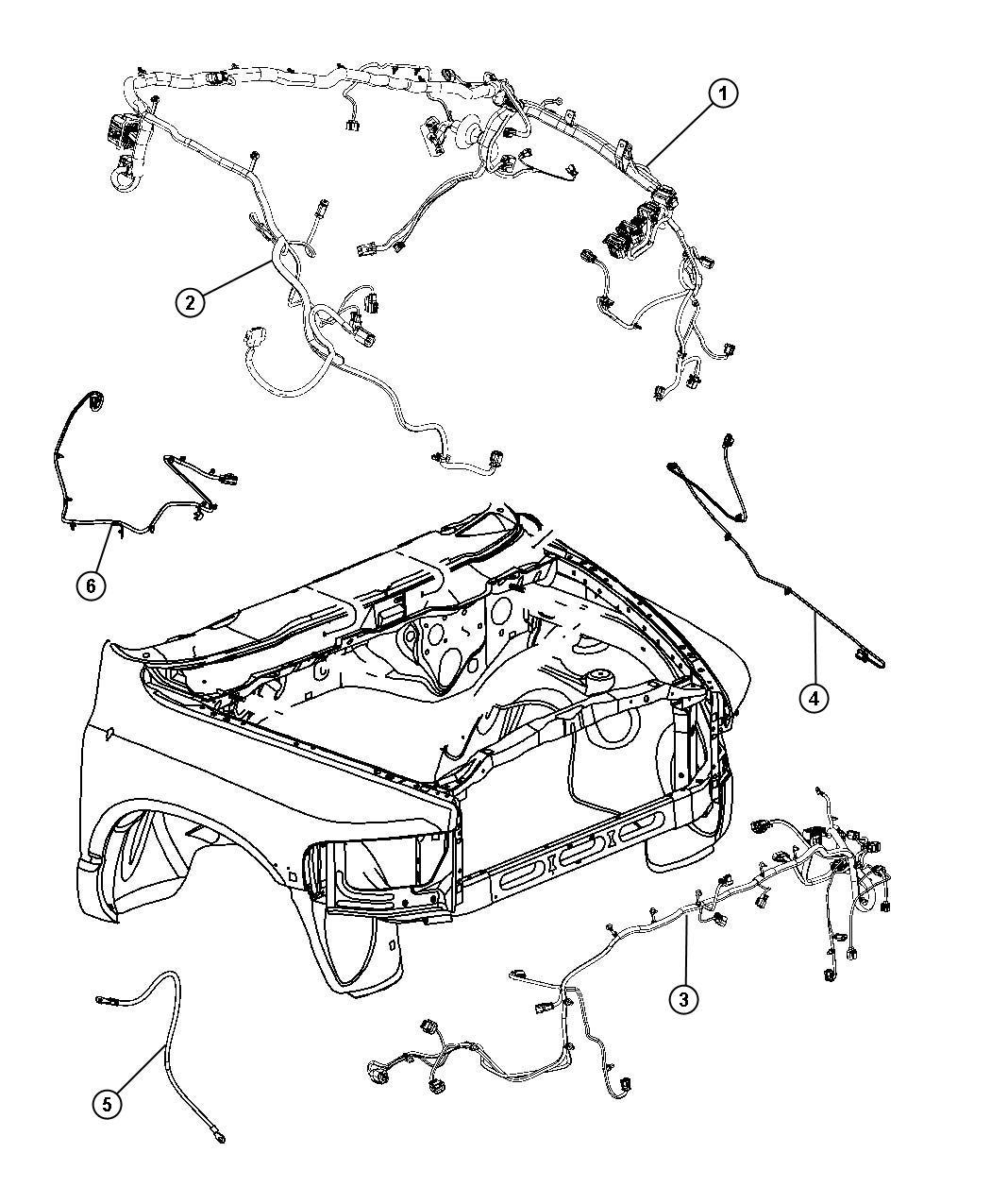 Dodge Ram Wiring Front End Module Fog Lamps Fog