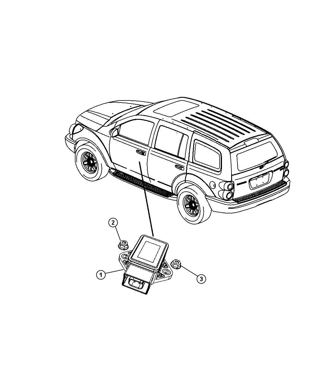 Chrysler Aspen Module Sensor Dynamics Electronic