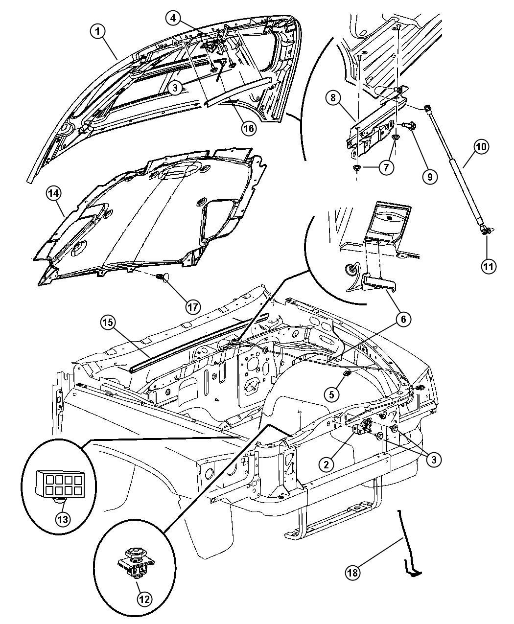 Dodge Dakota Release Hood Latch Related