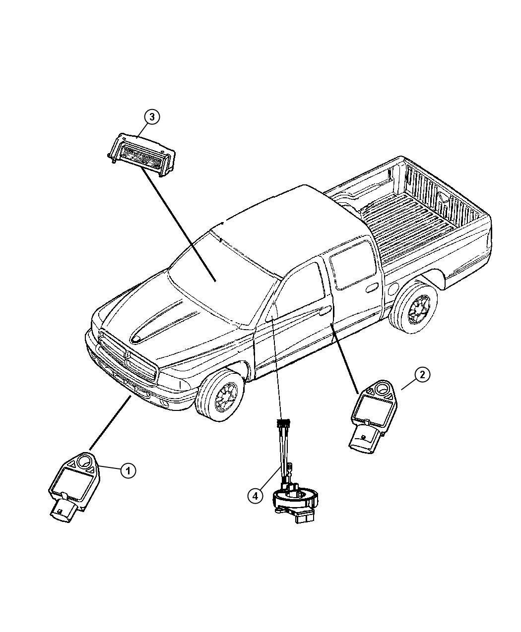 Dodge Dakota Sensor Impact Side Airbag Impact