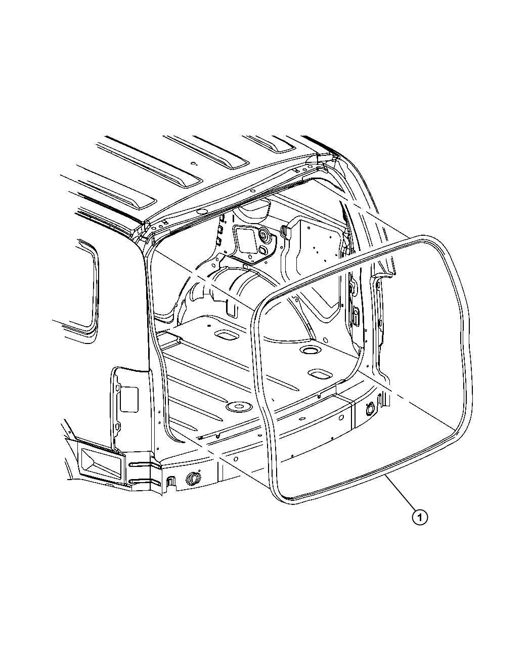 Dodge Nitro W Strip Liftgate Opening Body