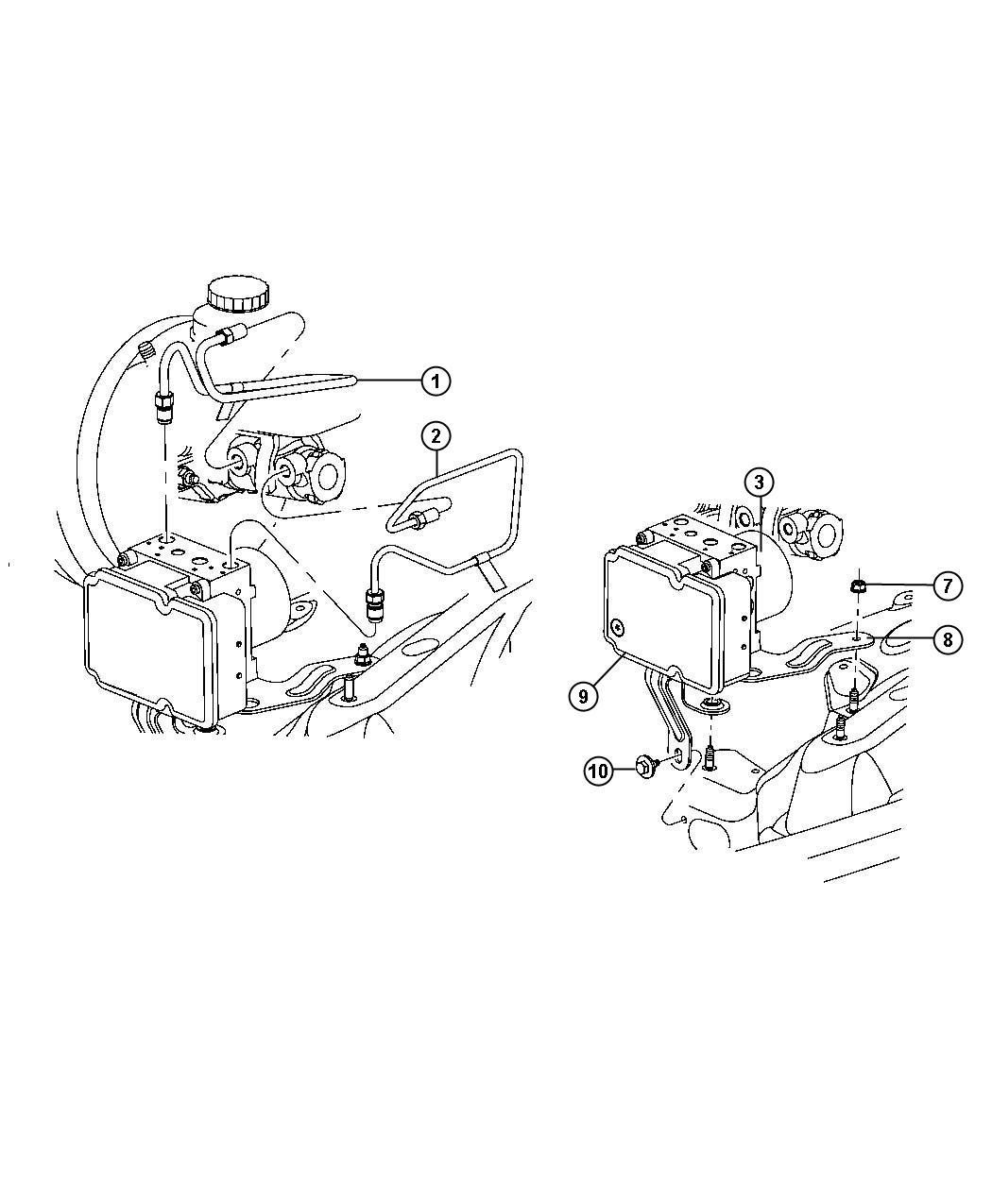Dodge Nitro Module Anti Lock Brake System