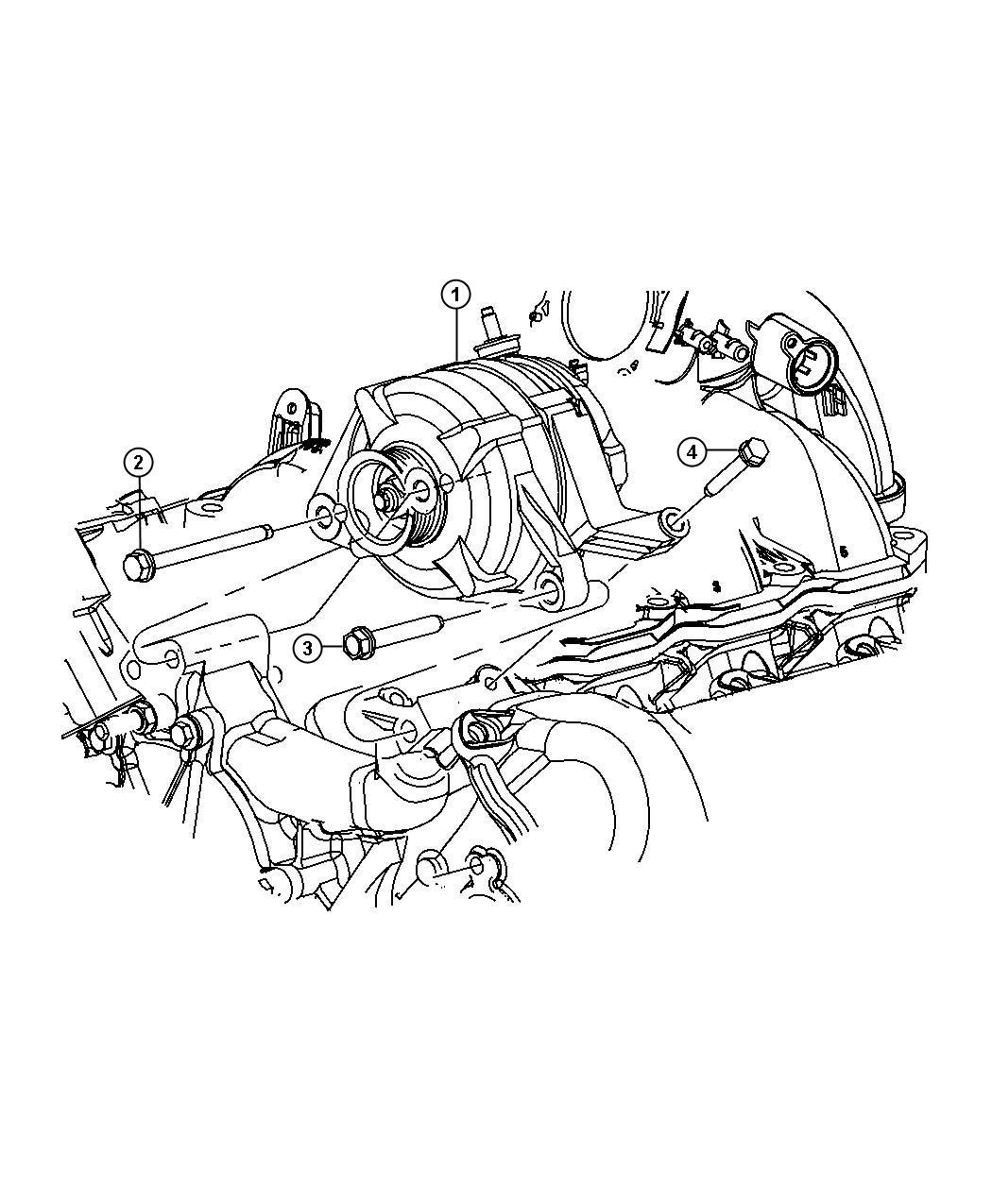 Dodge Nitro Bolt Screw Hex Flange Head M10x1 5x65