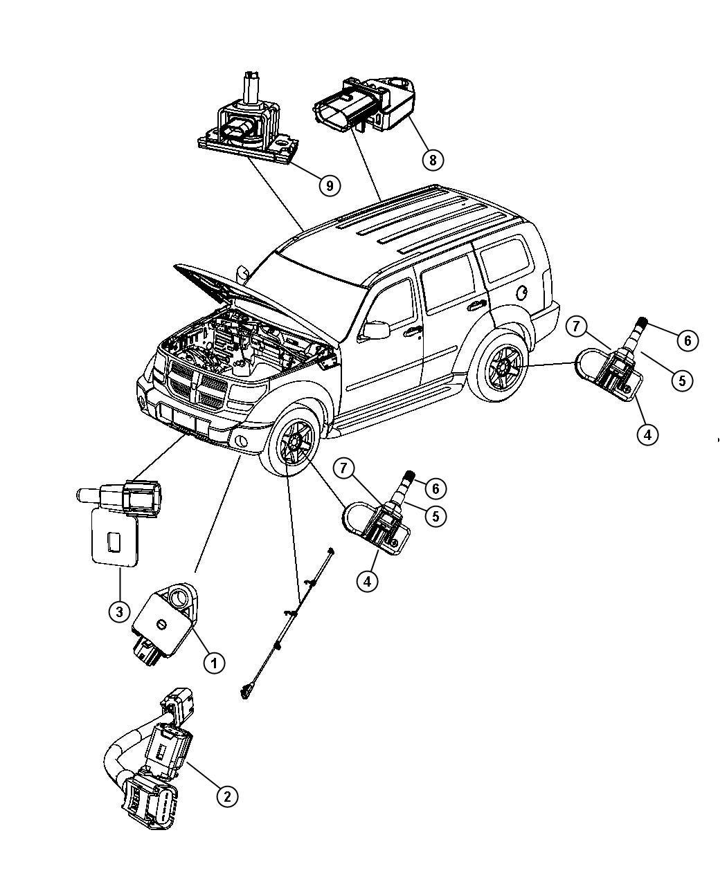 Dodge Nitro Wiring Jumper Impact Sensor Front Impact