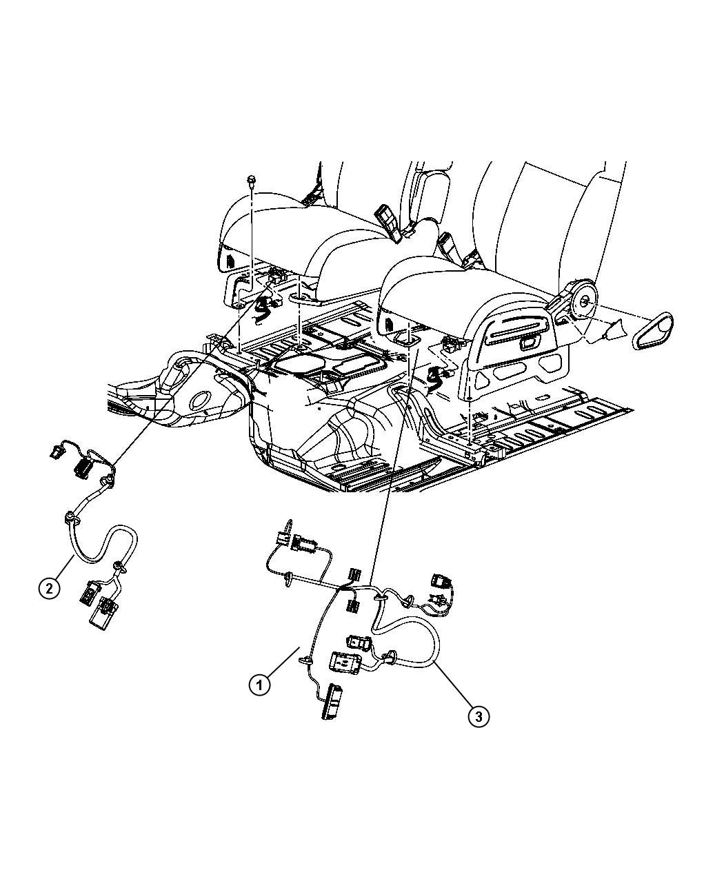 Dodge Nitro Wiring Power Seat Left 6 Way Power 6 Way