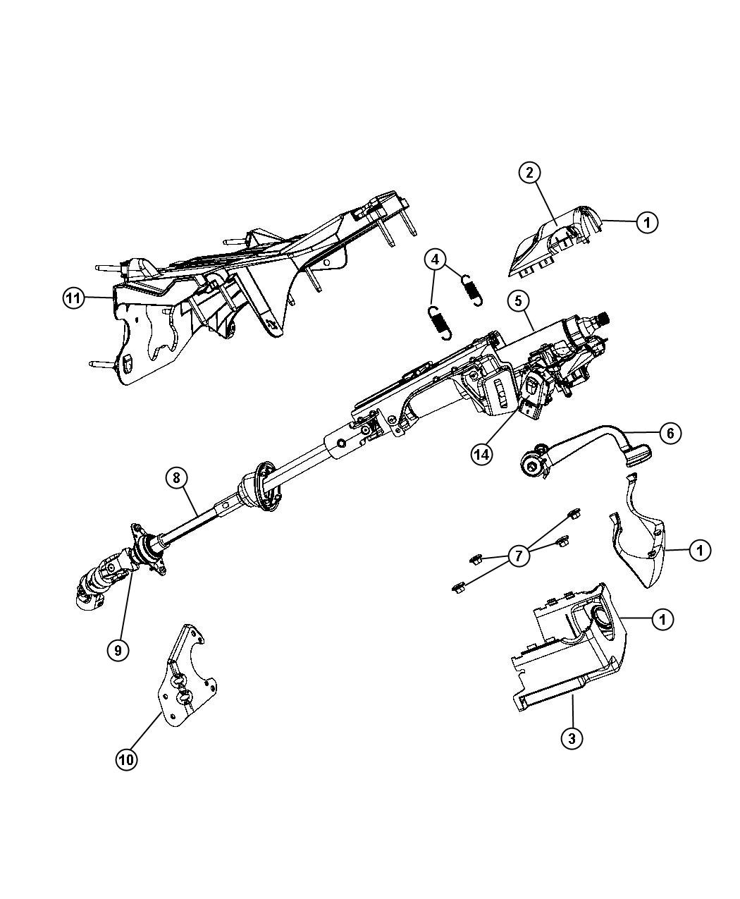 93 Jeep Steering Column Diagram