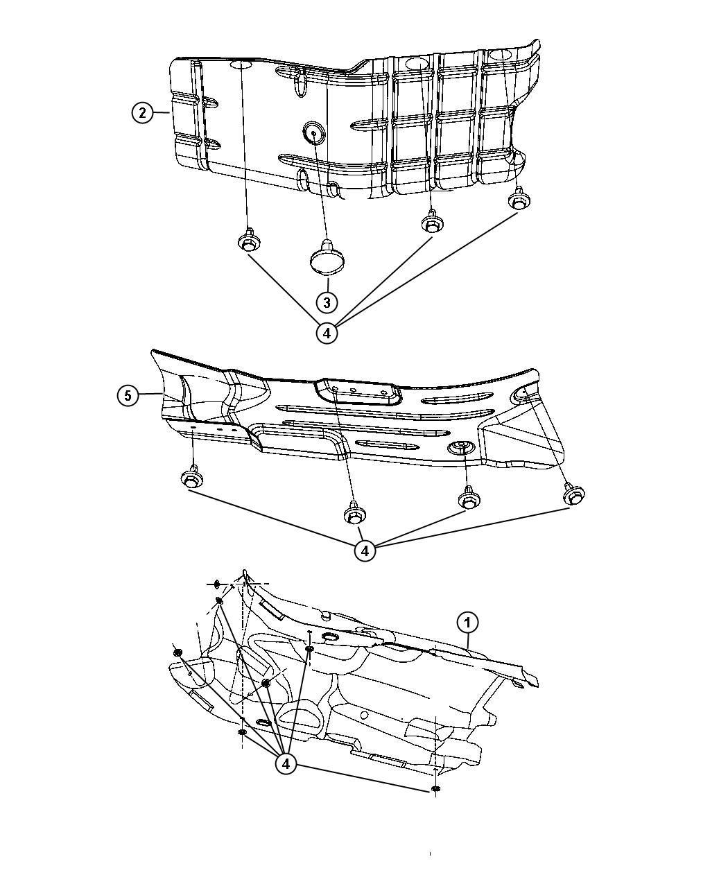 Jeep Liberty Shield Exhaust Floor Pan Muffler System Shields Underbody