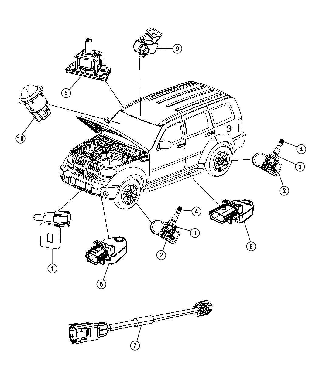 Jeep Liberty Sensor Infrared Trim All Trim Codes