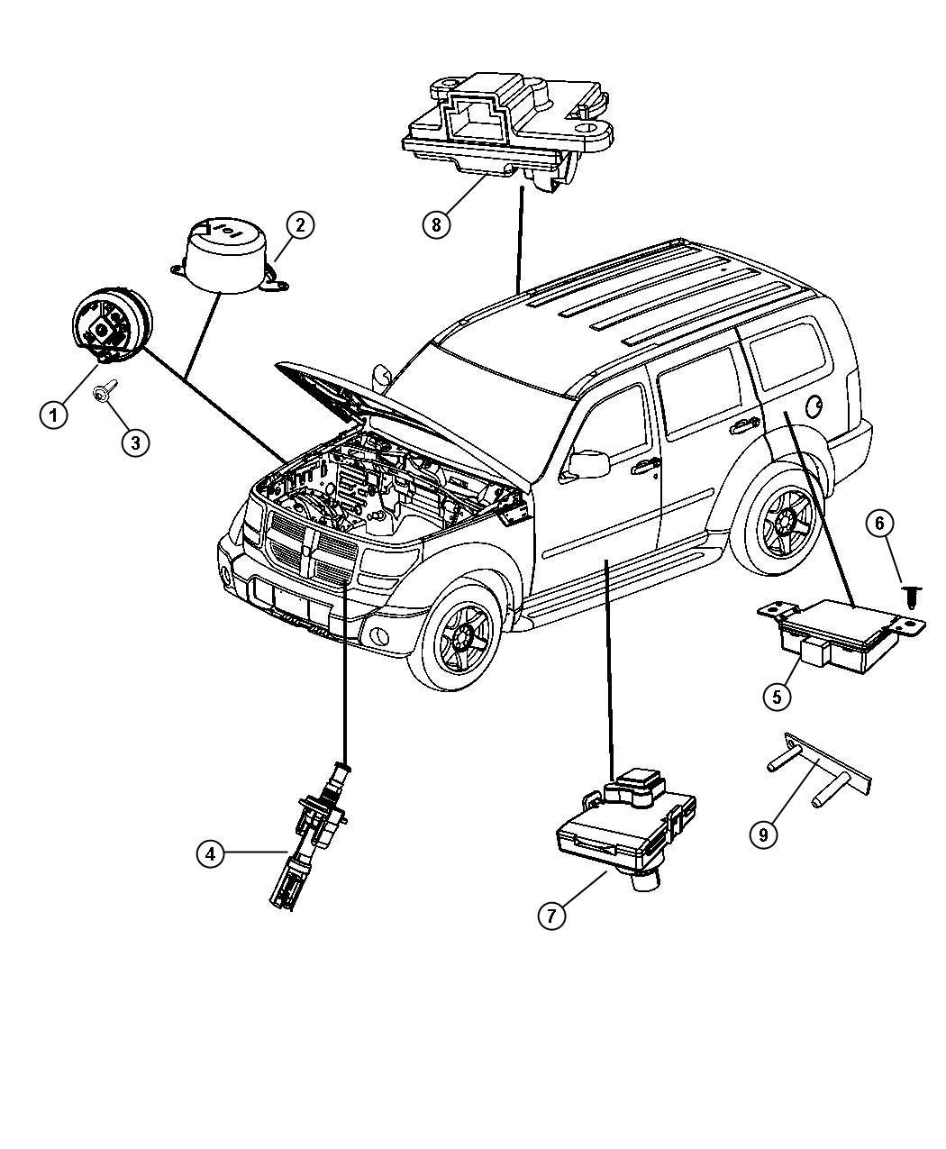 Jeep Liberty Receiver Alarm Export Trim All Trim