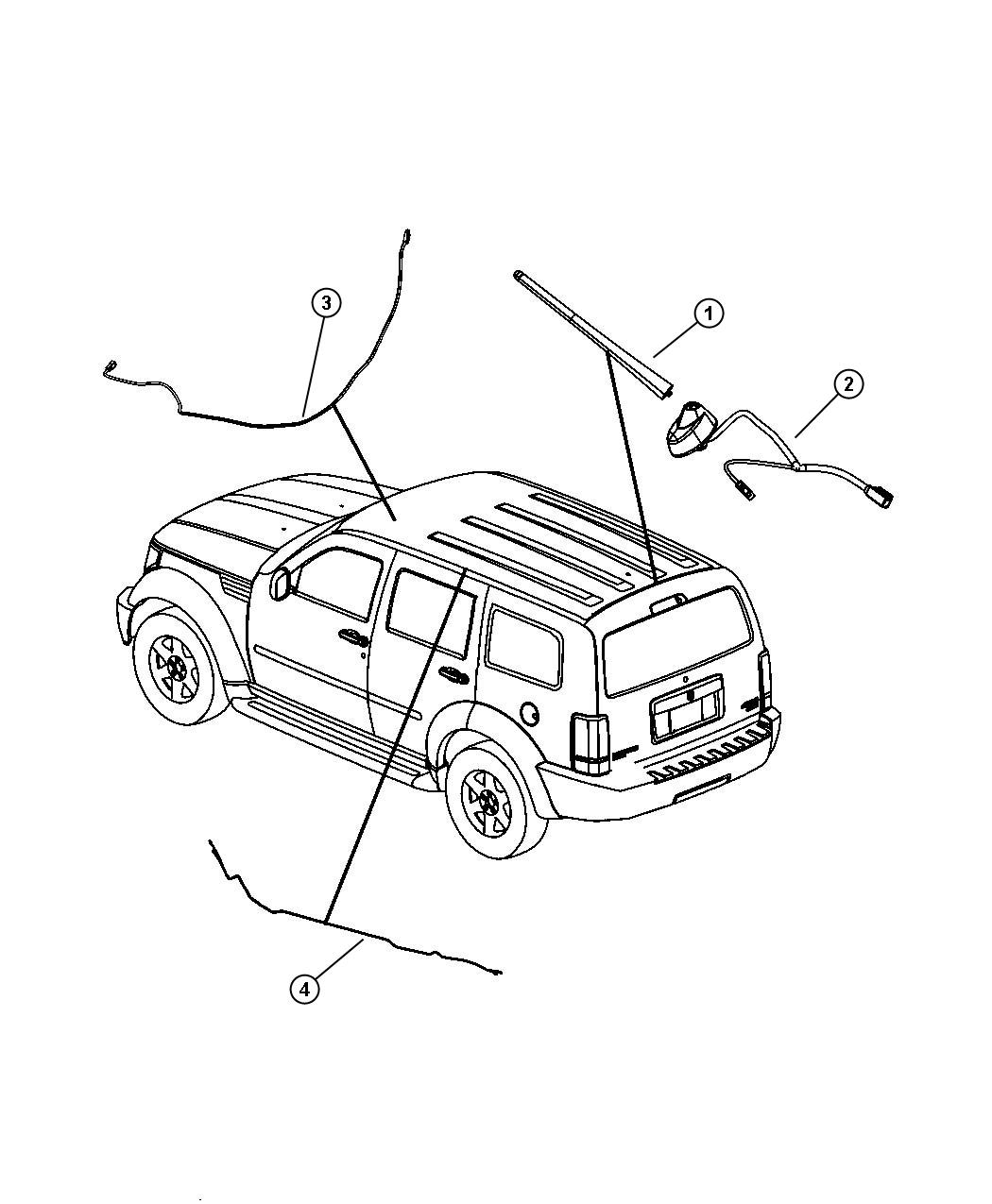 Jeep Grand Cherokee Antenna Base Cable And Bracket