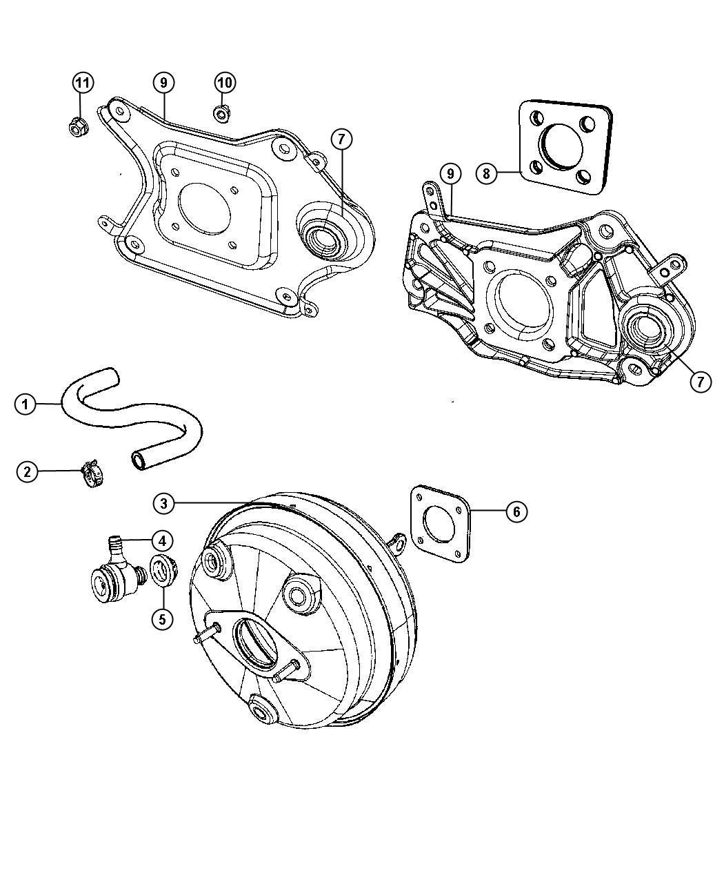 Jeep Liberty Booster Power Brake Maintenance