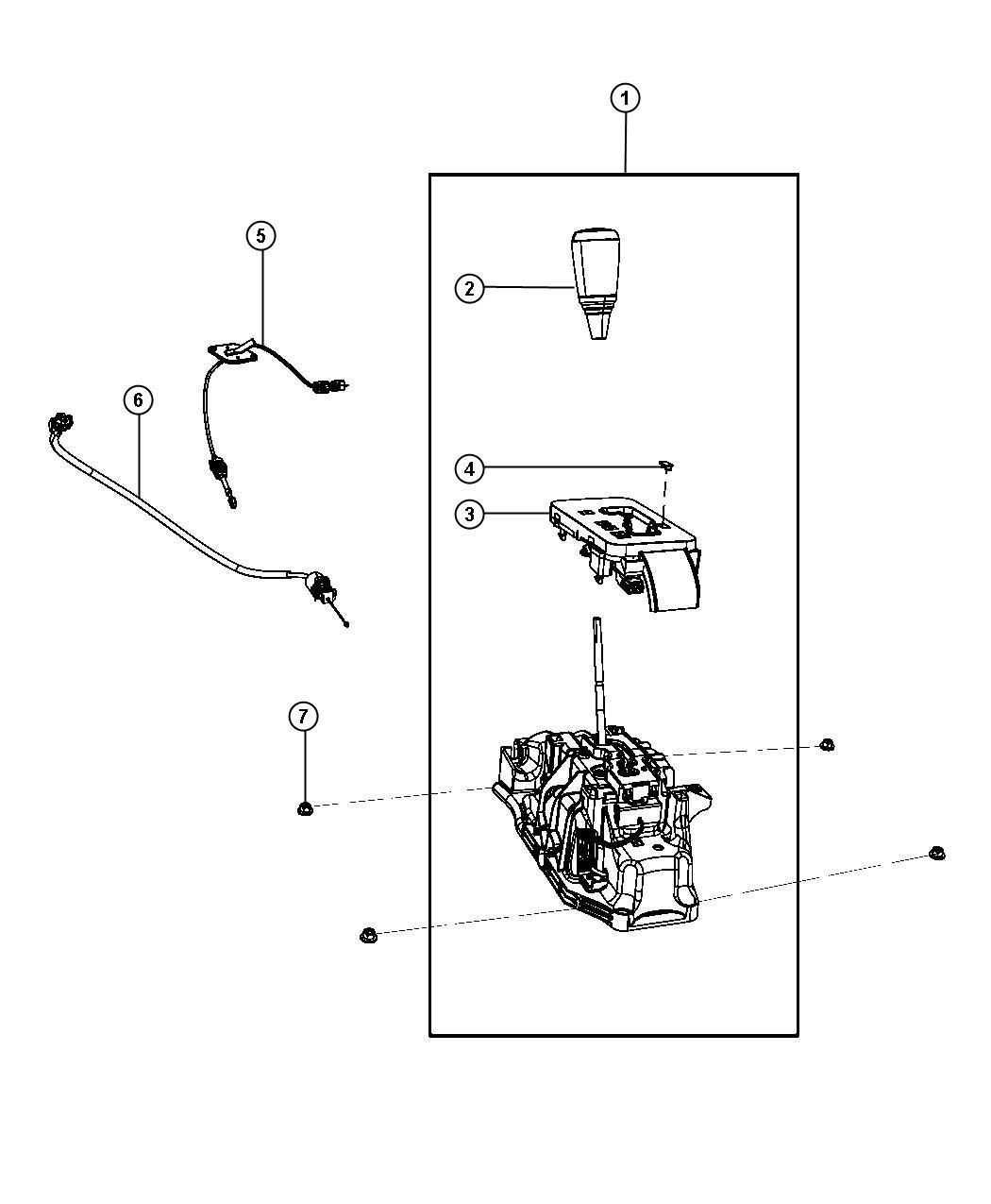 Dodge Nitro Cable Gearshift Control Controls
