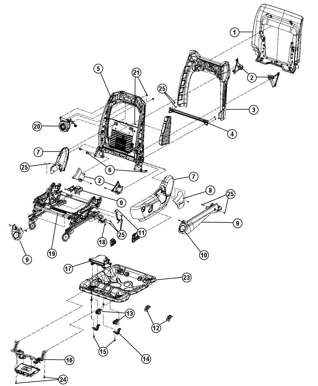 Dodge Durango Shield Inboard Seat Adjuster Trim Tl Color X5