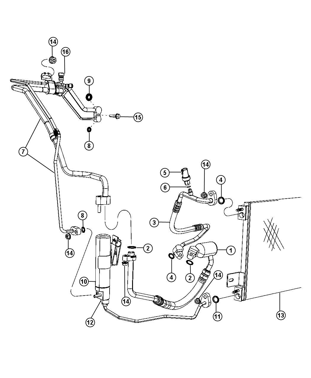 Jeep Patriot Cap A C Charge Valve High Side