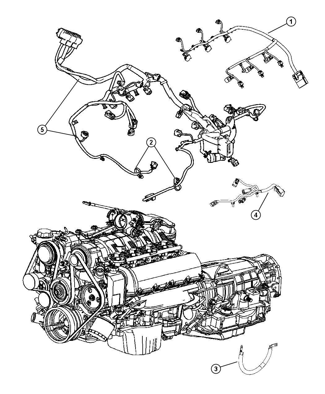 Dodge Magnum Wiring Engine Powertrain Mopar Gas