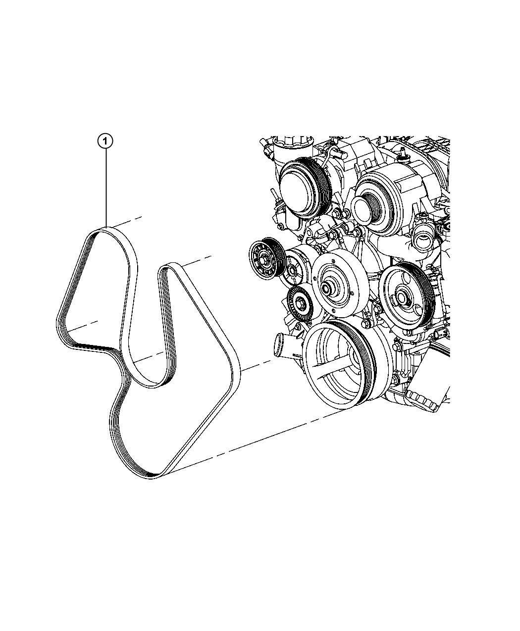 Dodge Durango Belt Serpentine Electro Hydraulic Power