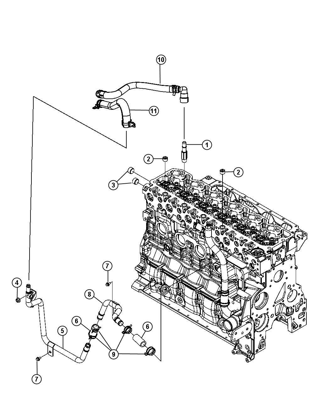 Dodge Ram Hose Heater Heater Return Plumbing