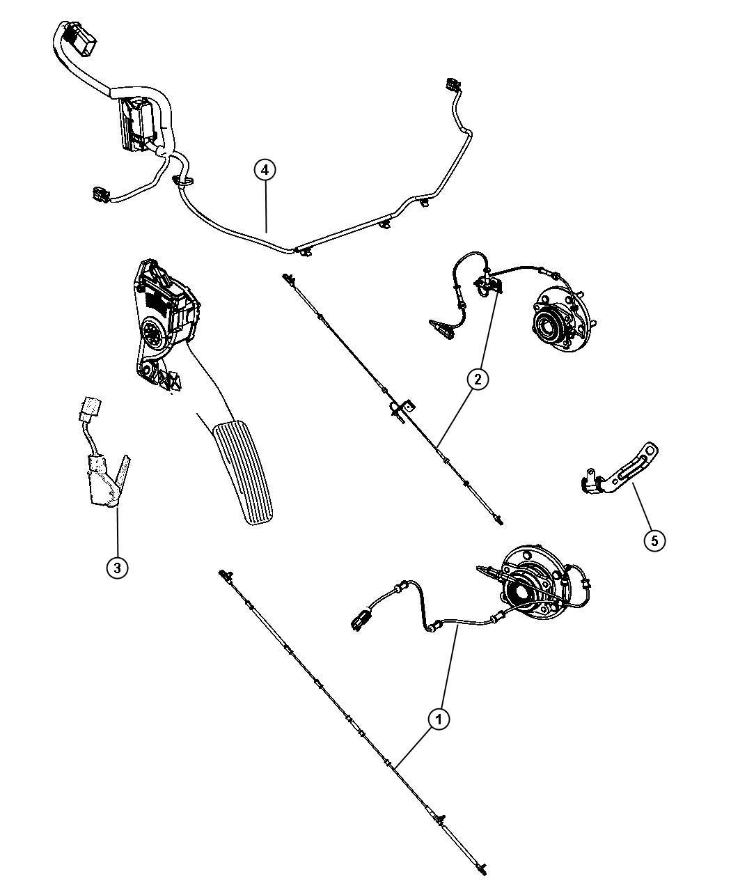 Dodge Grand Caravan Sensor Anti Lock Brakes Front