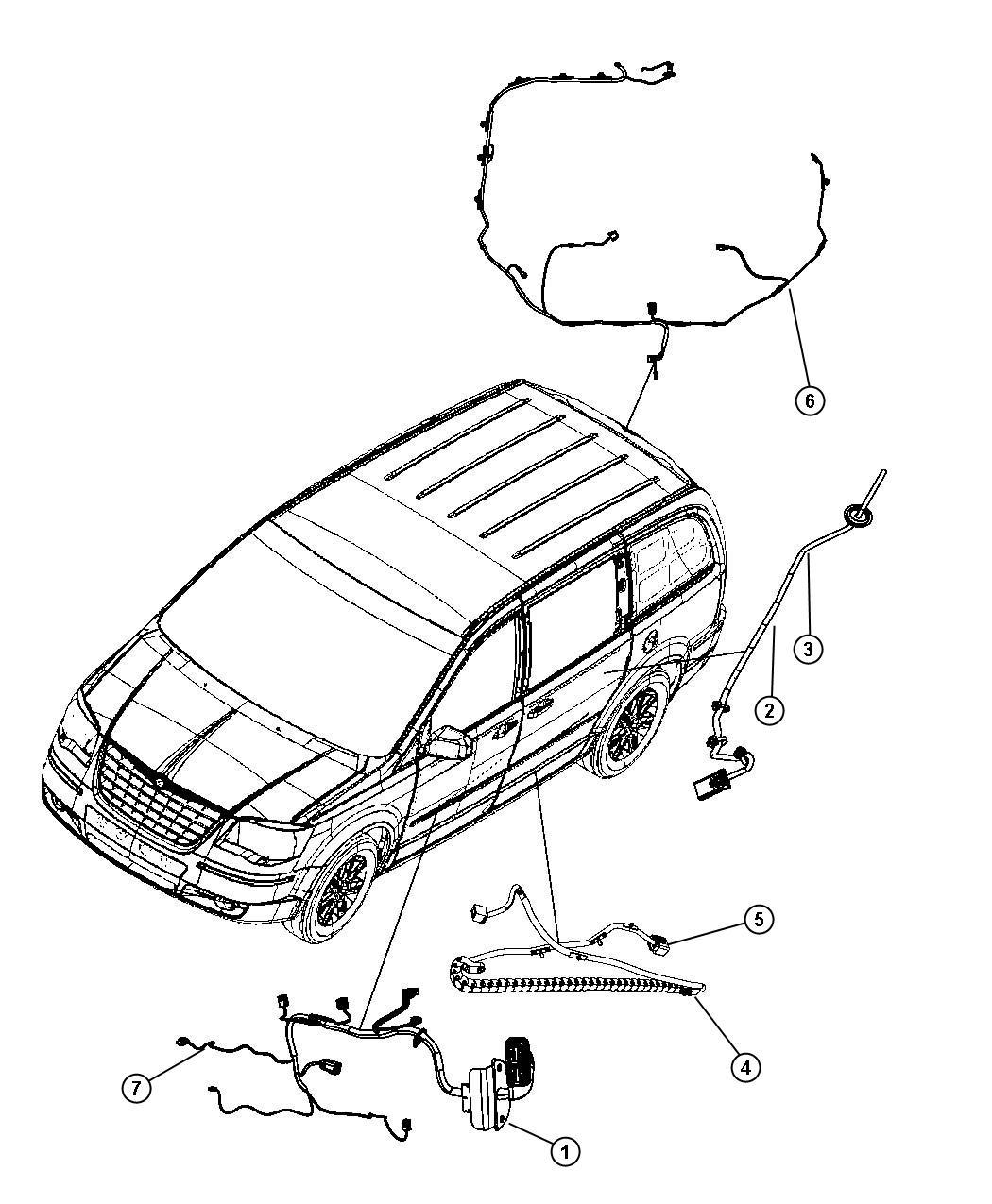 Chrysler Town Amp Country Wiring Sliding Door Track Left