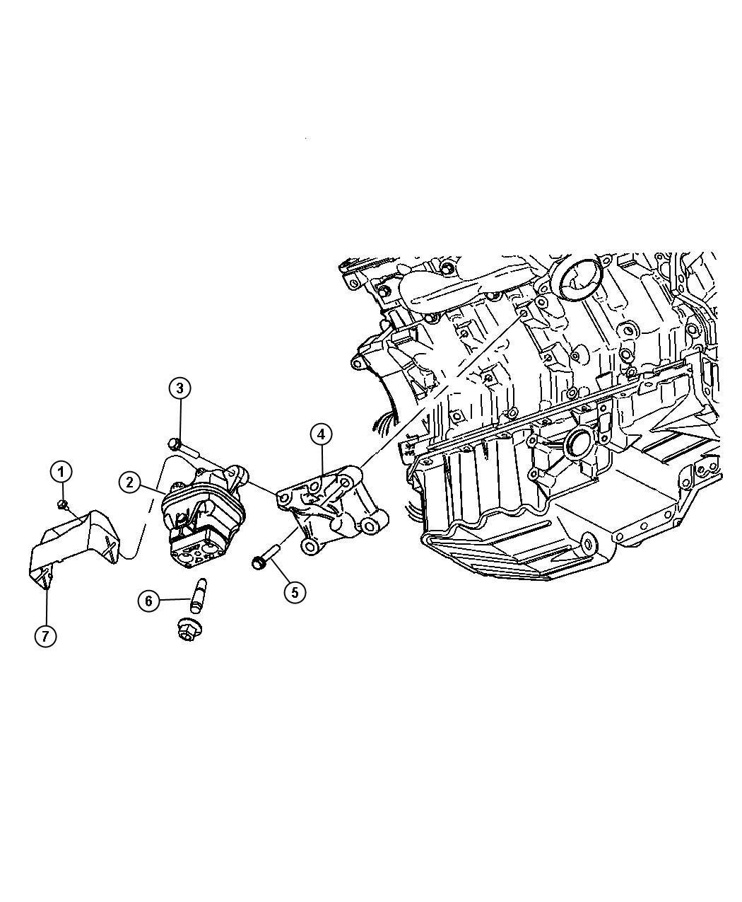 Dodge Charger Bracket Engine Mount Left Side Mounting