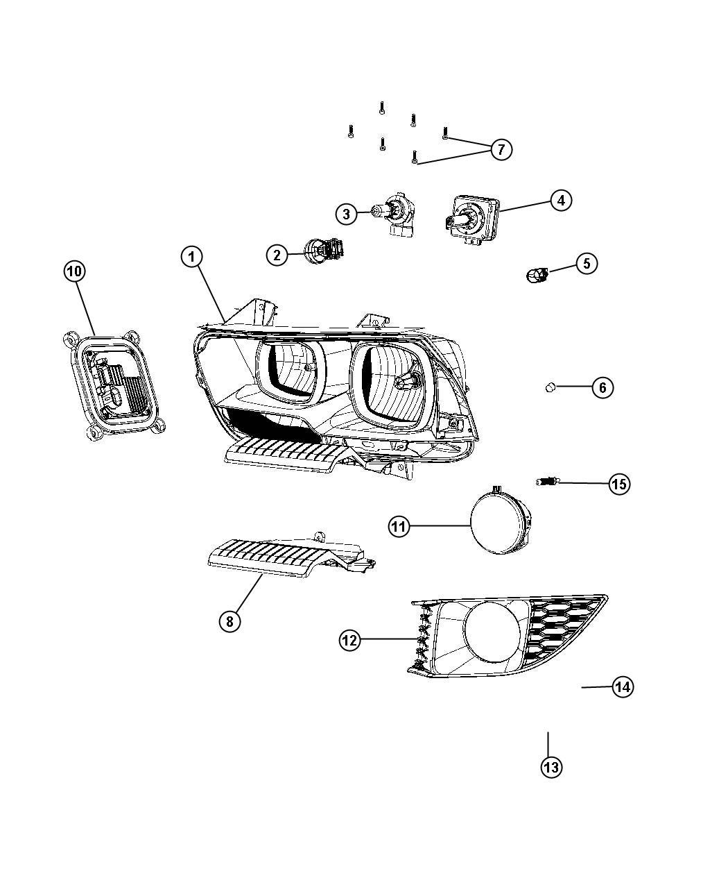 Dodge Charger Harness Wiring Kit Jumper Headlamp Left