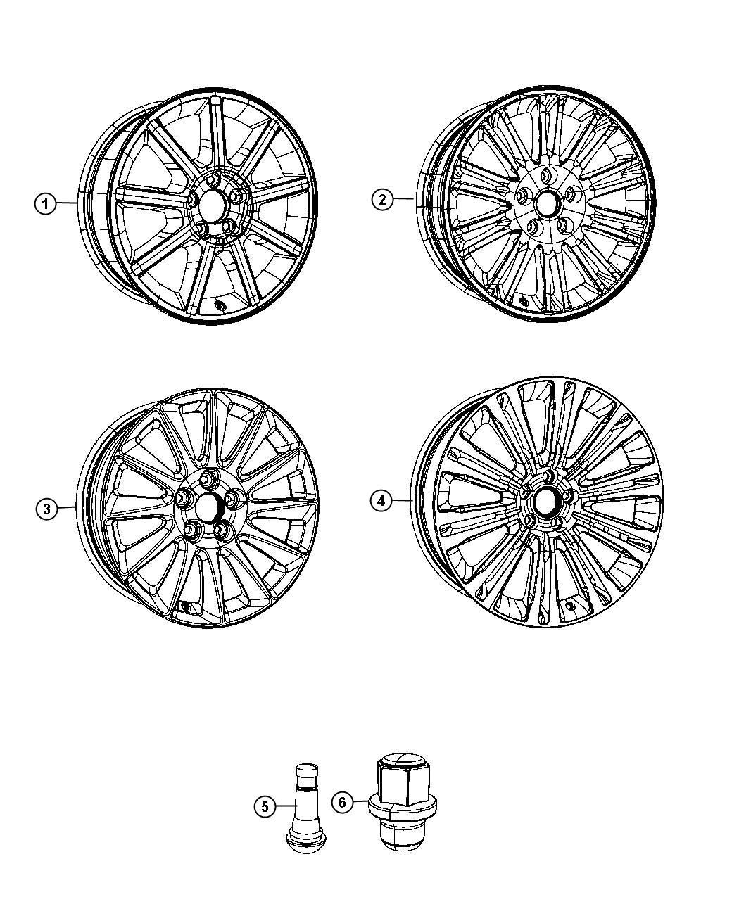 Chrysler 300 Wheel Aluminum Front Or Rear 20 Ultra