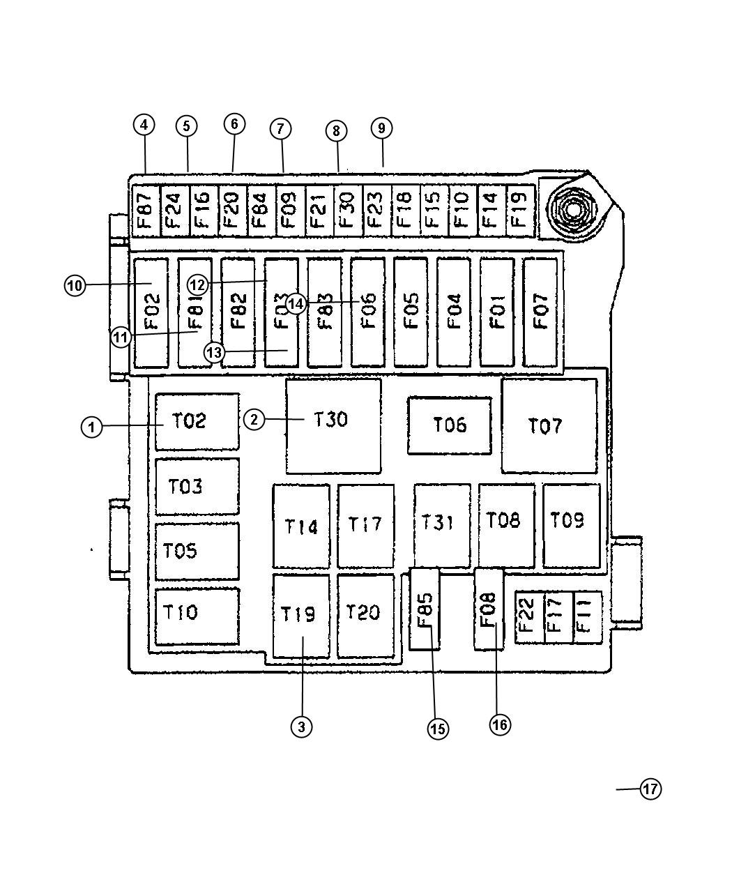 Dodge Grand Caravan Fuse Ato Standard 30 Amp