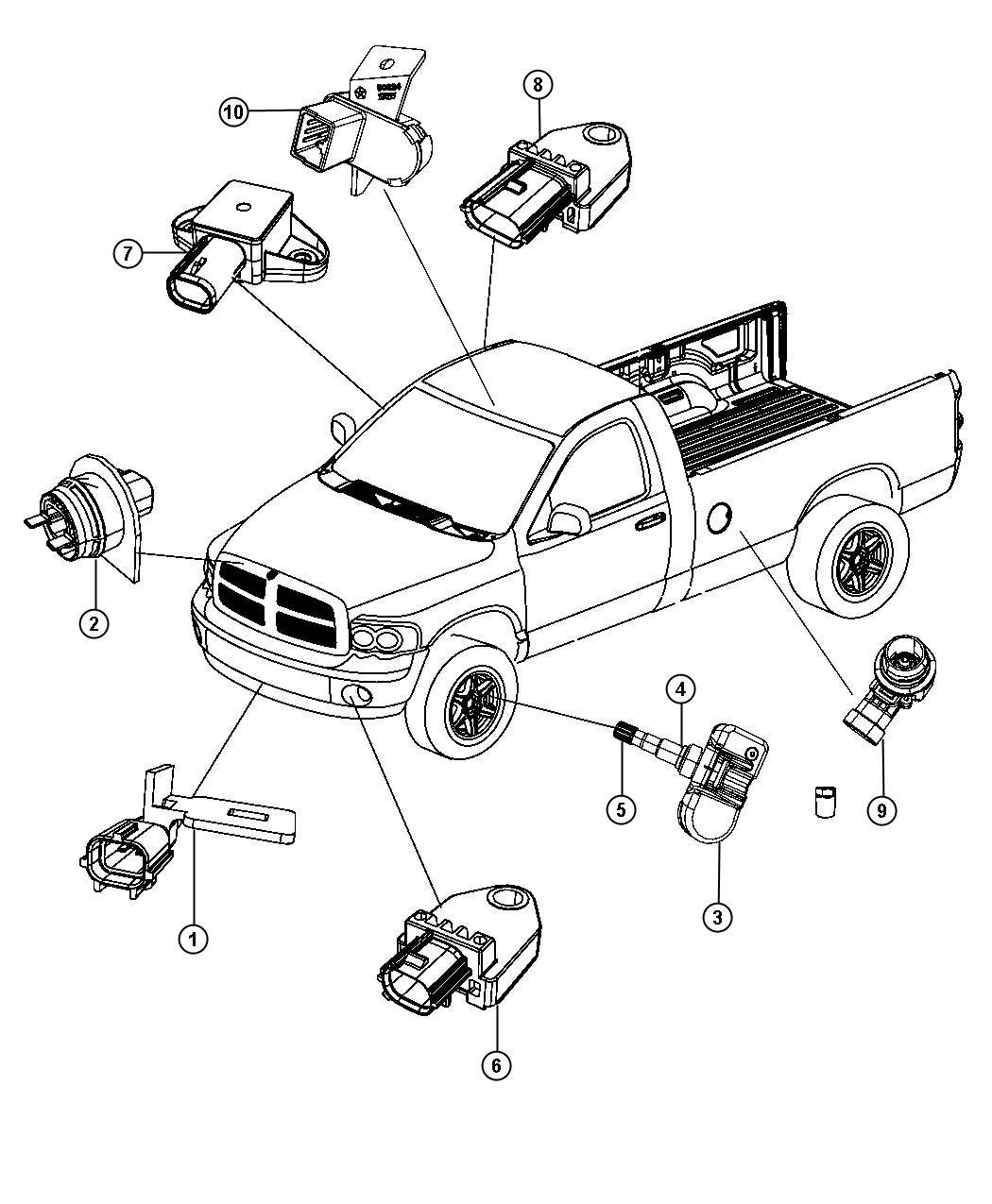 Jeep Liberty Sensor Infrared Trim O0 Rear