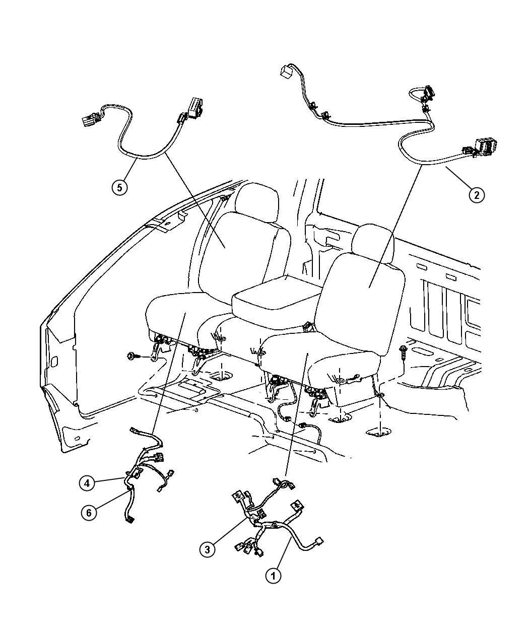 Dodge Ram Wiring Seat Air Bag Trim Cloth Low