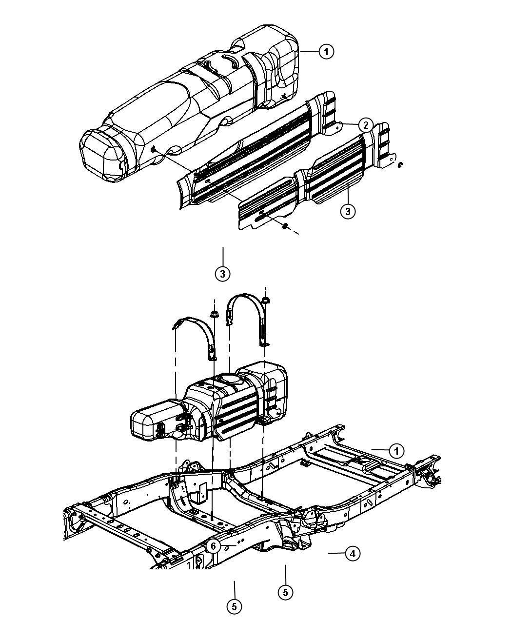 Ram Strap Fuel Tank Rear Gallon Nfx Nfw