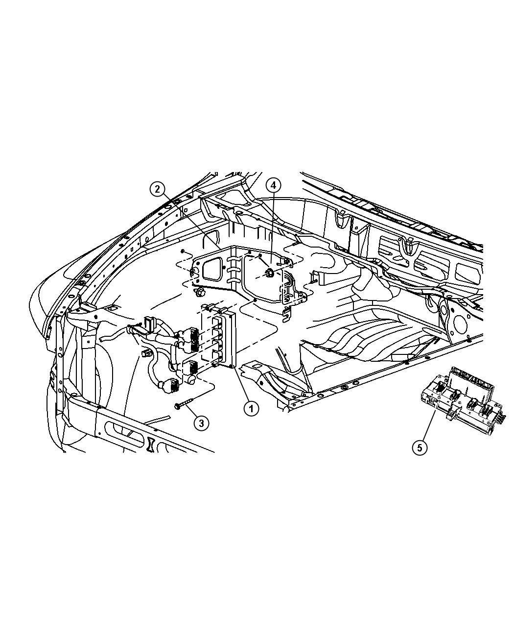 Dodge Ram Module Powertrain Control Generic